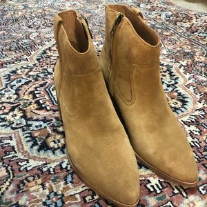 Brand new Madewell Suede Ankle Boots